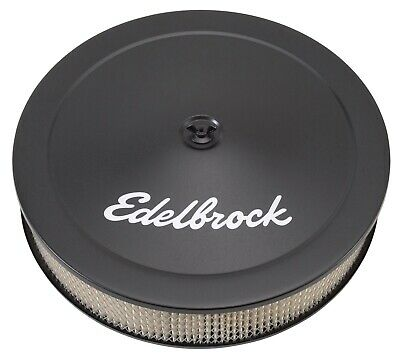 Edelbrock 1223 Pro-Flo Black 14'' Round Air Cleaner / Filter