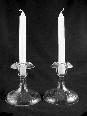 BODA- Crystal Cut Glass Candle Holders (Pair)