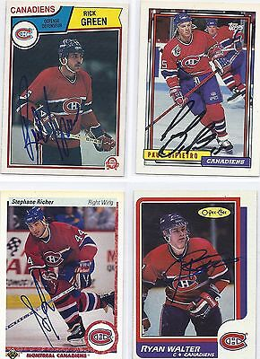 1990-91 UD #276 Stephane RIcher Montreal Canadiens Signed Autographed Card