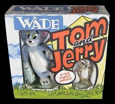 Wade - Tom And Jerry - English Porcelain Figurines - Boxed - 1973 - Mgm