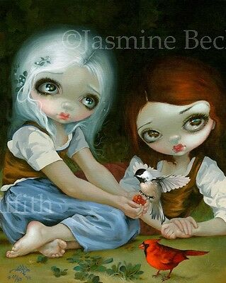 Snow White Rose Red Jasmine Becket-Griffith CANVAS PRINT lowbrow art fairy tale