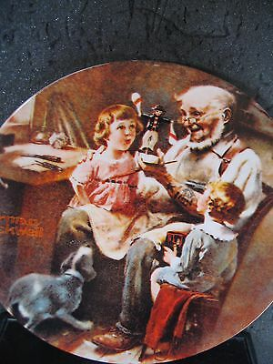 Knowles Norman Rockwell 1977 THE TOY MAKER Ltd Ed Plate