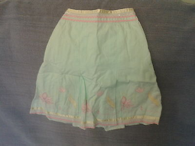 Girls 2-3 Years - Pastel Green Embroidered Summer Skirt - Mothercare