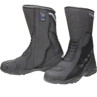 Black Oxygen Elite Waterproof Breathable Touring Motorcycle Bike Boots All Sizes