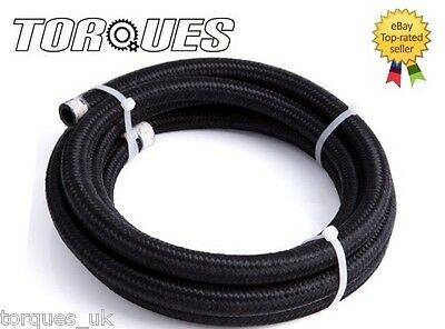 "AN -6 (8mm) 5/16"" Black Nylon Braided Fuel Hose 1 Meter"