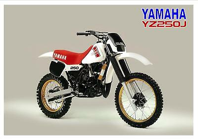 YAMAHA Poster YZ250 YZ250J 1982 VMX Suitable to Frame