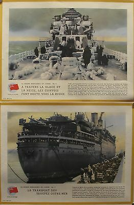 2 Original British Wwii Posters - Sea War In Europe, Troopships Icebreakers Rare