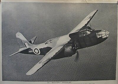 2 Original British Wwii Posters - Air War In Europe, Halifax Boston Douglas Rare