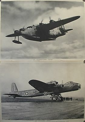 2 Original British Wwii Posters - Air War In Europe, Stirlingsunderland Rare
