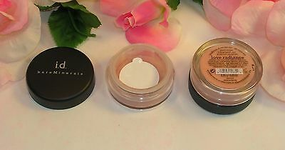 New I.D. Bare Minerals All Over Face Color Love Radiance .03oz  .85 g Loose Pwdr