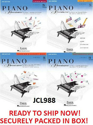 NEW FABER PIANO ADVENTURES LEVEL 2A- 4 BOOK PACK LESSON THEORY TECHNIQUE