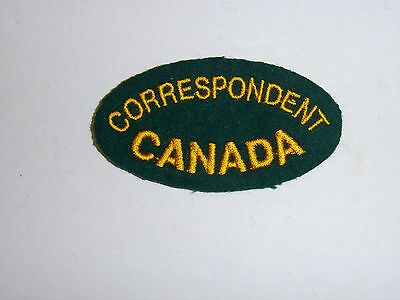 c0060   WWII Canadian War Correspondent Patch