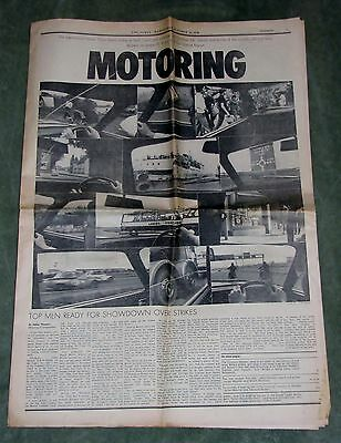The Times Newspaper Motoring Supplement October 1970
