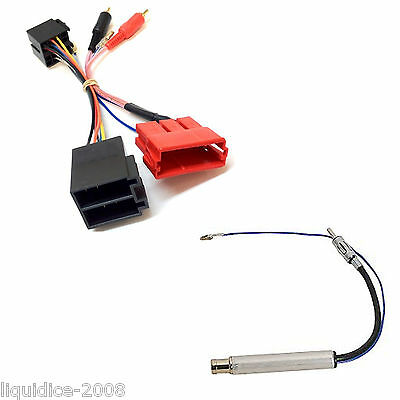 Pc9-404 Audi A4 2002   Chorus / Concert Rca To Iso Adaptor Stereo Lead & Pc5-90