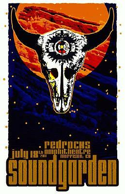 SOUNDGARDEN MARS VOLTA RED ROCKS 2011 CONCERT POSTER