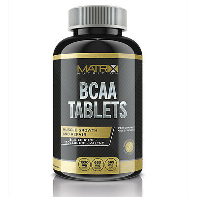 Matrix Bcaa Branch Chain Amino Acids Leucine Isoleucine Valine - 120 Caps