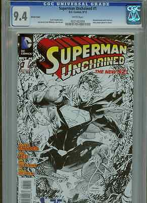Superman Unchained #1  (1:300 Sketch)  CGC 9.4  WP