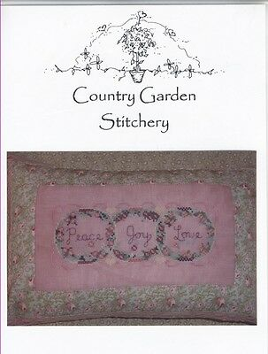 Peace Love and Joy - Country Garden Stitchery
