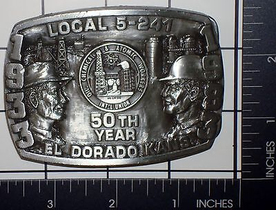 """^ """"LOCAL 5-241"""" Oil Chemical & Atomic Workers Belt Buckle by Siskiyou Buckle Co."""