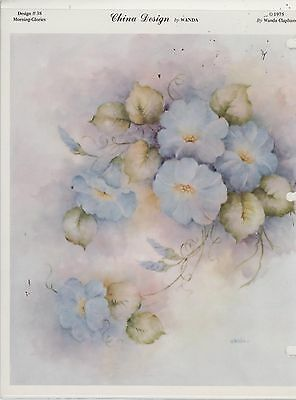 Morning Glories by Wanda Clapham  China Painting Study 1975