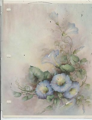 Blue Morning Glories #42 by Sonie Ames  China Painting Study 1970