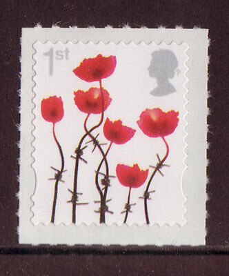 Great Britain 2012 Definitive Poppy Stamp Self Adhesive Unmounted Mint, Mnh