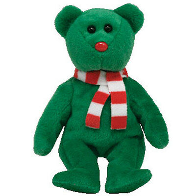 TY Holiday Baby Beanie - WINDCHILL the Green Bear (4.5 inch) - MWMT's Christmas