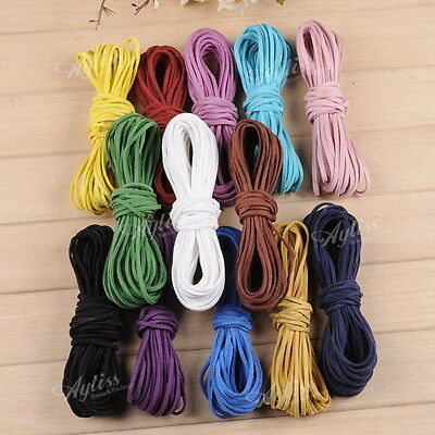 10yard 2mm Faux Suede Cord Leather Lace Velvet Thread For Bracelet Necklace DIY