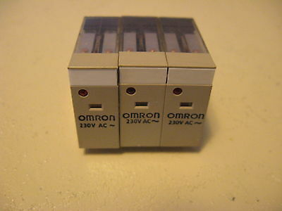 Omron Relay Plug, G2R-2-SN (S), 230 VAC, 10 Amp, New (Lot of 6)