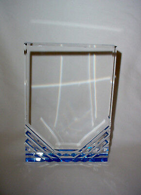 Blue Rectangle Reflection Acrylic Award Plate Plaque