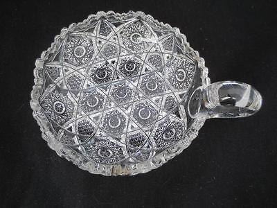 Antique/Vintage Averbeck Cut Glass Handled Dish Bowl-Nappy American Brilliant