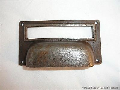 Large Filing File Cabinet Drawer Handle Cast Iron Name Card Pull Ch12