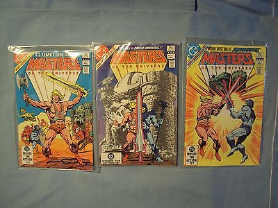 3 vintage MASTERS OF THE UNIVERSE Comic Books #1 2 & 3 1982 1983