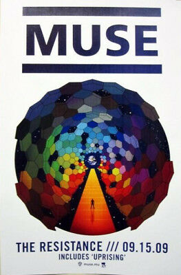 MUSE 2009 THE RESISTANCE promotional poster NEW OLD STOCK Mint condition!