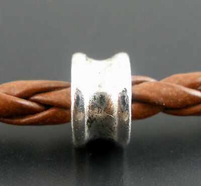 50 Perles intercalaires rond 6x4mm
