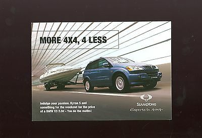 Ssangyong Kyron S Sales Leaflet