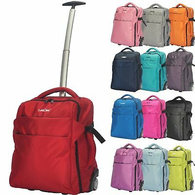 b0d873e71c 3 in 1 Wheeled Cabin Trolley Travel Bag Hand Luggage Backpack Holdall  Suitcase