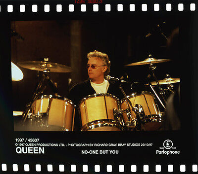Queen Roger Taylor On Drums Classic Photo 1997 Original Transparency Slide Rare