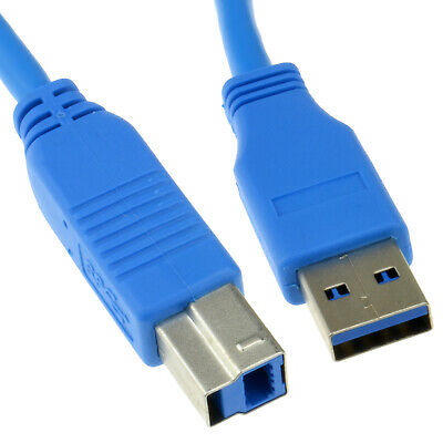 1m USB 3.0 SuperSpeed Cable Type Plug A to Type B Plug BLUE [006874]