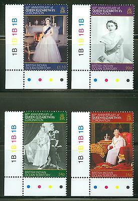 BRITISH INDIAN OCEAN TERRITORY  2013 60th CORONATION OF QUEEN ELIZABETH II SET
