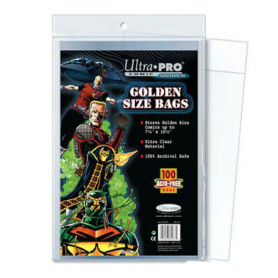 Ultra Pro Comic Storage Accessories - Golden Size Comic Bags 100 bags/pack