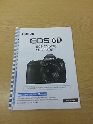 Canon  Eos 6D Instruction Manual User Guide  Printed 144 Pages