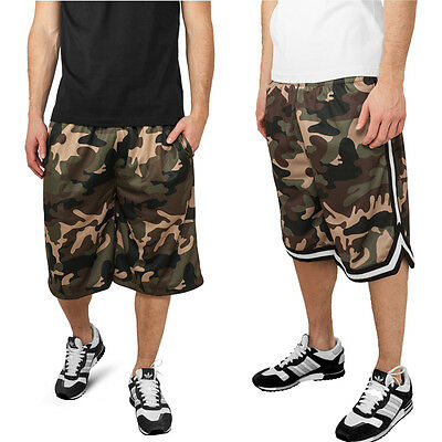 Urban Classics Camouflage Basketball Bball Short Camo  Army Streetball Hose