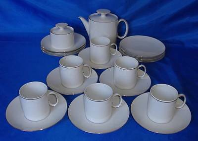 THOMAS Rosenthal MEDALLION Tea Set, Cups Saucers Sugar Bowl, Teapot, Side Plates