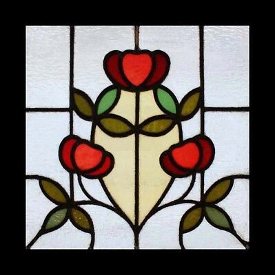 Art Nouveau Floral English Antique Stained Glass Window Beautiful