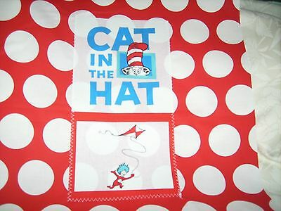 """Pillow COVER 16"""" Dr. Seuss Cat in the hat Thing 1 flying kite #2"""