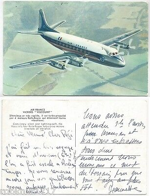 CPSM AVIATION plane avion Air France VICKERS VISCOUNT motor Rolls Royce [965 A]