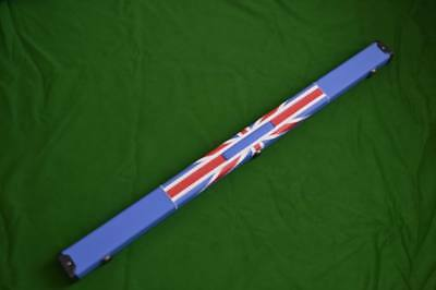 Quality Deluxe Patch 3/4 Union Jack Flag Design Faux Leather Snooker Cue Case