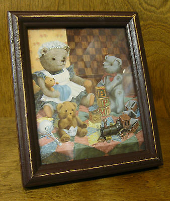 Tender Heart Treasures #THT96018 TEDDY BEAR FRAMED PICTURE NEW from Retail Store