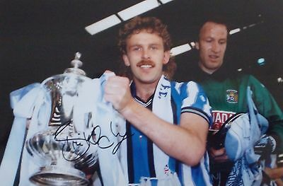 Brian Kilcline Signed 12 x 8 Coventry City 87 FA Cup Final Spurs Photo Proof